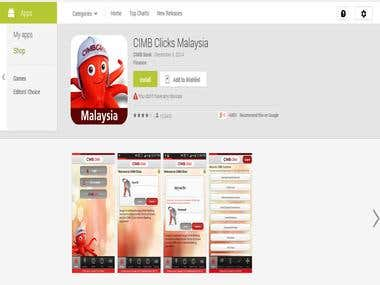 CIMB Malaysia Android Mobile App