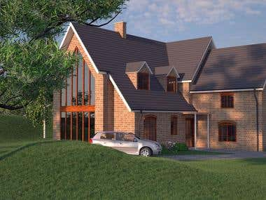 Simple exterior visualization.