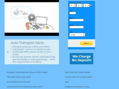 Form for Autotransport.Company web site