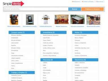 Sitio web de clasificados