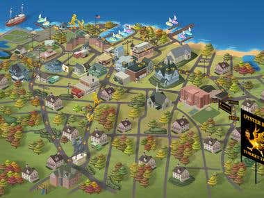 2d Illustrated Map