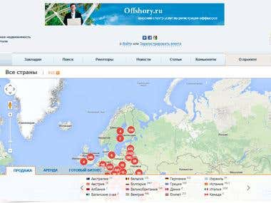 Site development for a foreign real estate portal