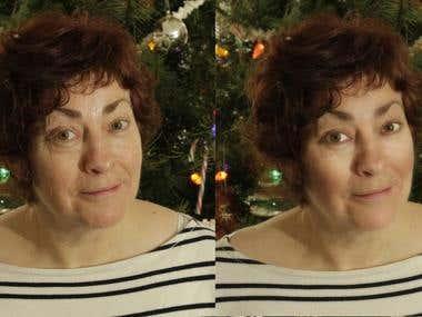 Retouching - Female candid portrait