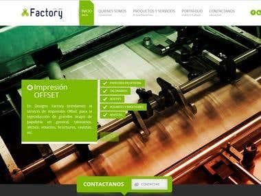 Pagina Web de Design Factory