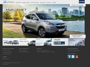 Pagina Web de Hyundai Honduras