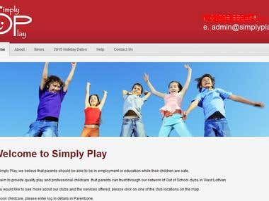 Childcare Website Application