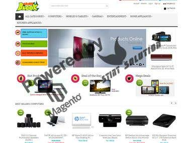 Magento Based Shopping Cart  www.GadgetBlook.com  Customized