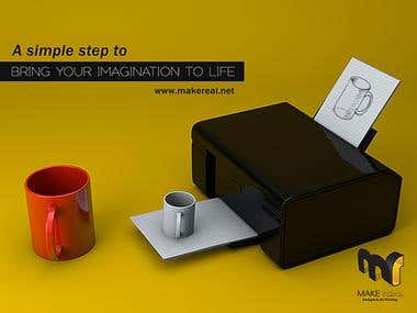 Advertisment design for 3D printing store