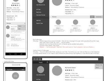 UX/ UI Design for web & mobile app.