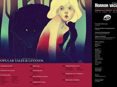 Layout magazine Horror Vacui Project.