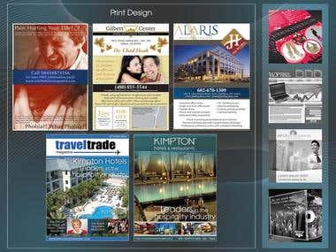 Flyers and Magazine Cover