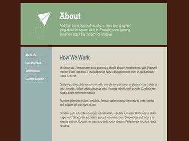 Create a Wordpress Template