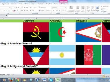 Find true country of flag set test with excel vba