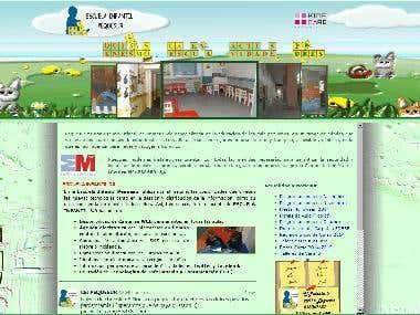 Pagina Web de la Escuela Infantil Pequesur