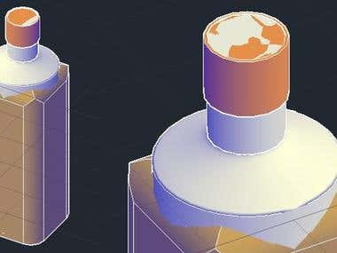 3D Bottle design in AutoCAD
