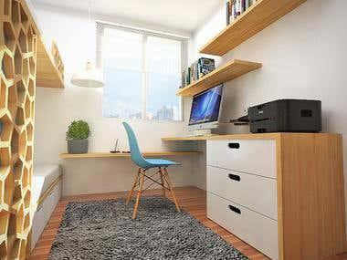 Apartment furniture design