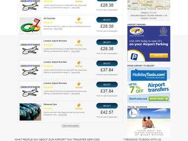 Airport Transfer Website