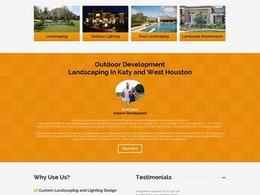 Outdoor Development  Landscaping In Katy and West Houston