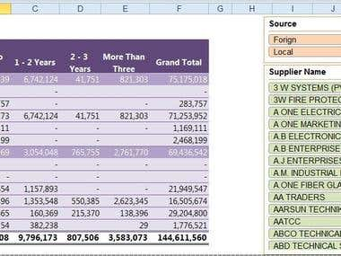 Excel, Data Processing