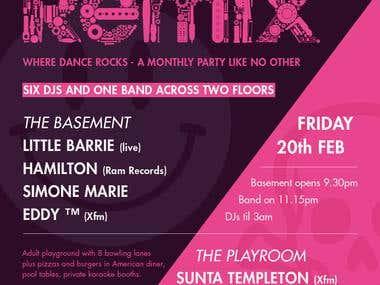 Xfm Remix Flyer