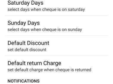Cheque Discount