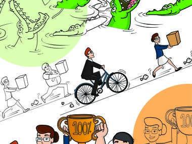Cartoons illustration