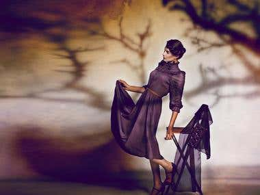 Artistic retouching of studio, wedding, personal, nude foto