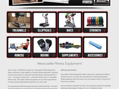 Website for Fitness Equipments