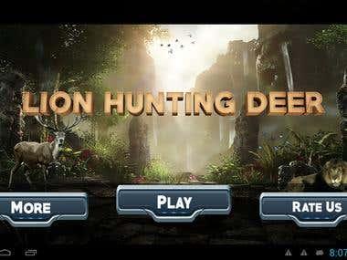 Lion Hunting Deer Free