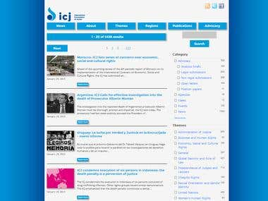 ICJ website search