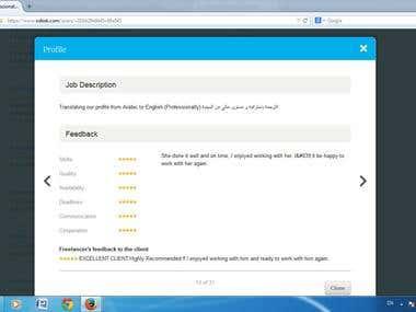 Company profile translation