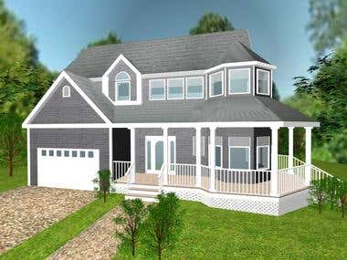 Exterior design of a family house
