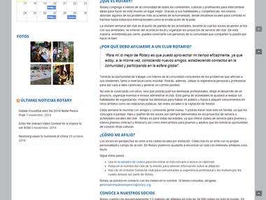 Website for Rotary Club of Bellavista-Atizapan