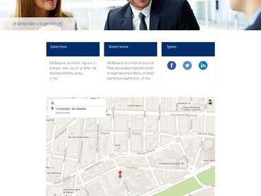 Website Development PSD-HTML for FGA Investment Bankers
