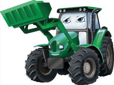 Tractor-Vector