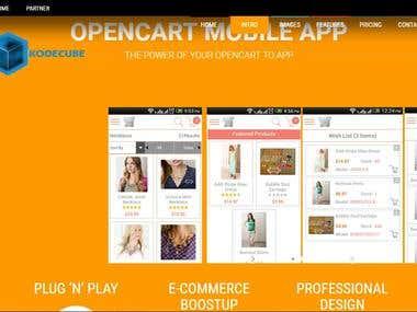Open Cart Mobile App