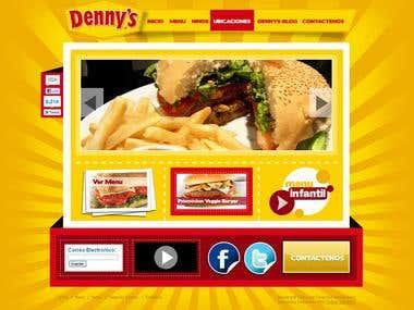 Web Design For Denny\'s Honduras