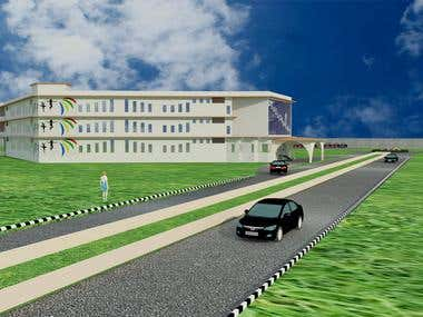 3D of girls hostel made in a day