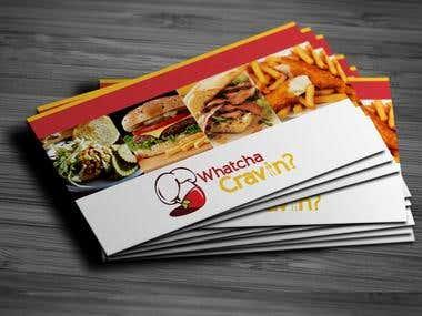 Whatcha Cravin Business Card & Logo