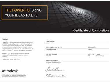 Autodesk MEP Certificate