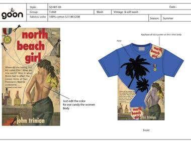 T-shirt Design and spec sheet