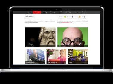 A portfolio screen