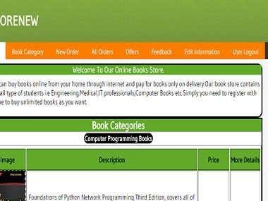 Online Book Store !