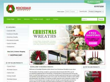 Home page for a Webiste