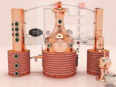 3d view of distillery
