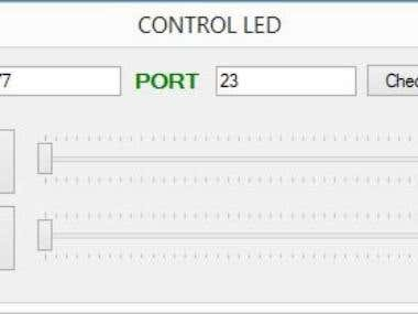 connect C# and arduino via IP. very simple gui. just have to