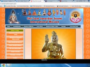 Website of http://www.santjanardanswami.com/