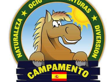 Logo design - Campamento Cervantes - Spain