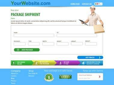 Desing for package shipment website