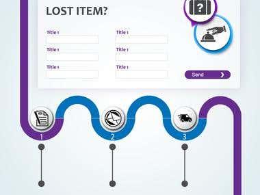 Design for Lost Item website